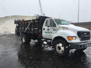 Snow plowing services