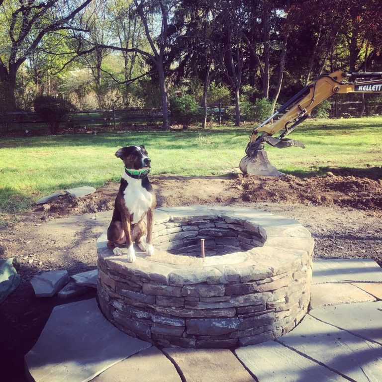 Outdoor living custom fire pit