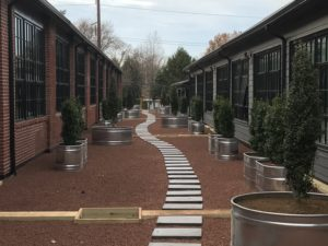 Corporate landscape services and custom pathways