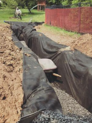 Installation of seepage pit